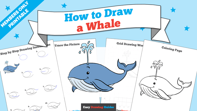 download a printable PDF of Whale drawing tutorial