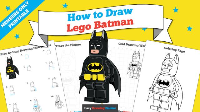 download a printable PDF of Lego Batman drawing tutorial