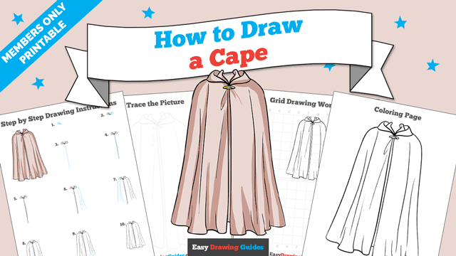 download a printable PDF of Cape drawing tutorial
