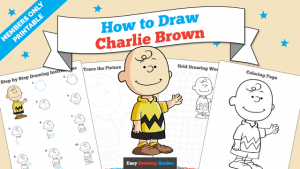 Printables thumbnail: How to draw Charlie Brown