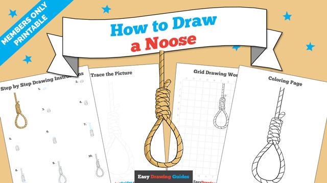 download a printable PDF of Noose drawing tutorial