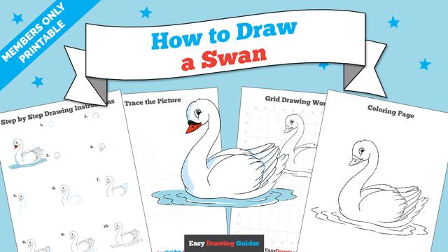 download a printable PDF of Swan drawing tutorial