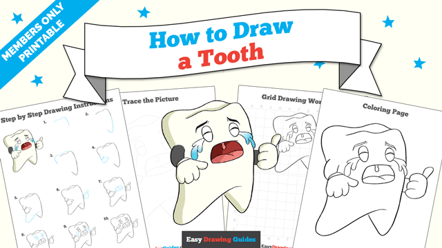download a printable PDF of Tooth drawing tutorial