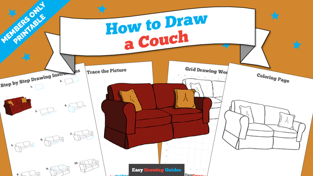 download a printable PDF of Couch drawing tutorial