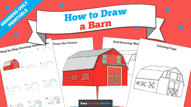 download a printable PDF of Barn drawing tutorial
