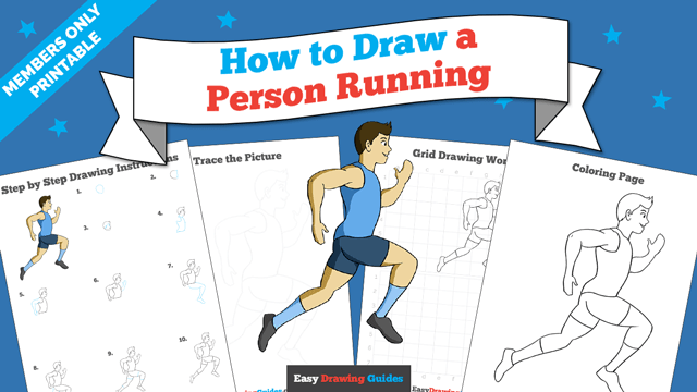 download a printable PDF of Person Running drawing tutorial