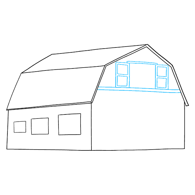 How to Draw Barn: Step 7