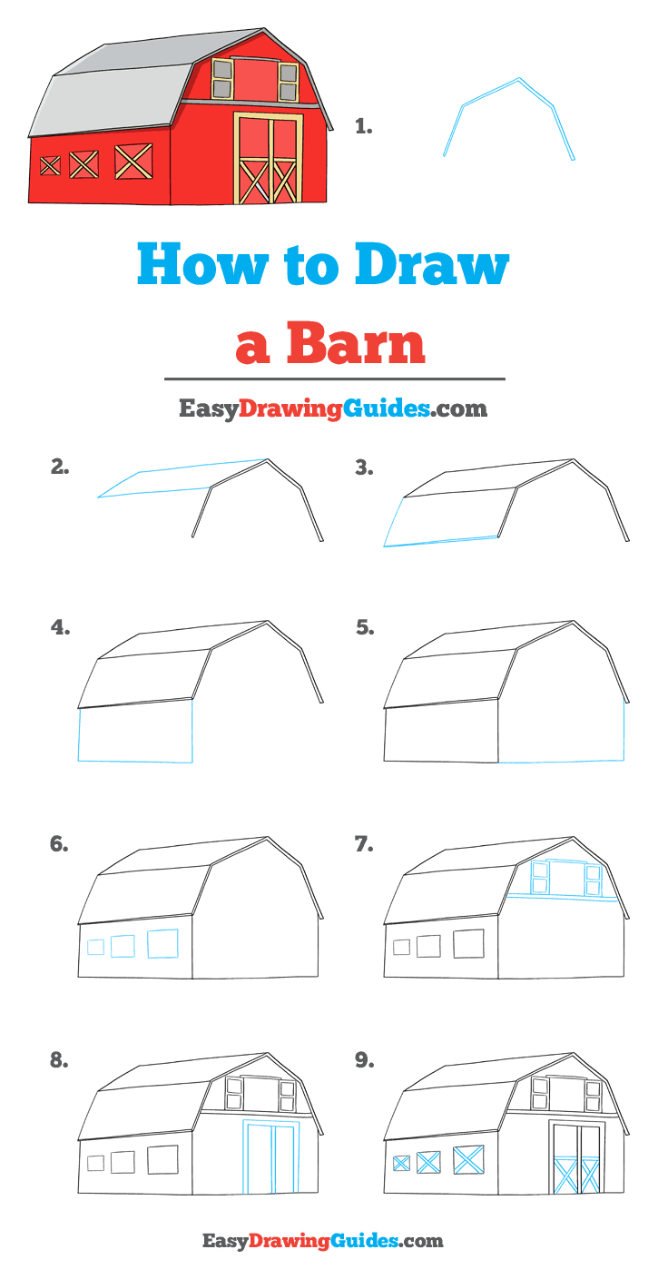 How to Draw Barn