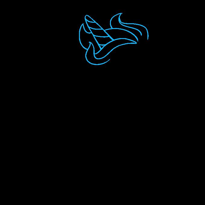 How to Draw Chibi Unicorn: Step 4
