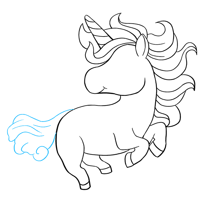 How to Draw Chibi Unicorn: Step 8