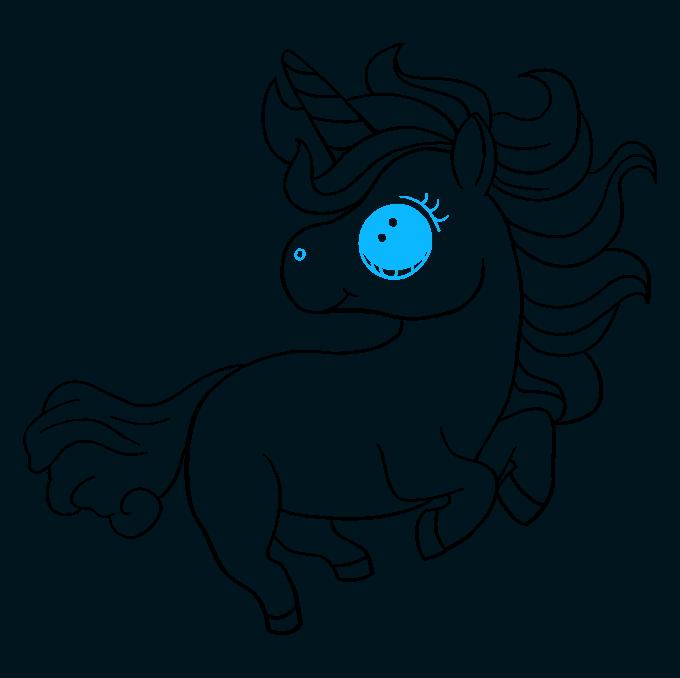 How to Draw Chibi Unicorn: Step 9