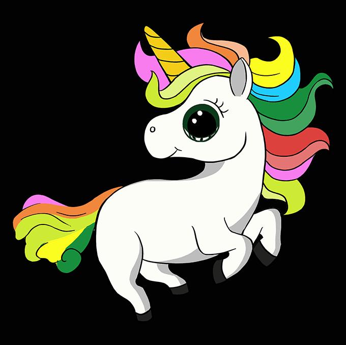 How to Draw Chibi Unicorn: Step 10