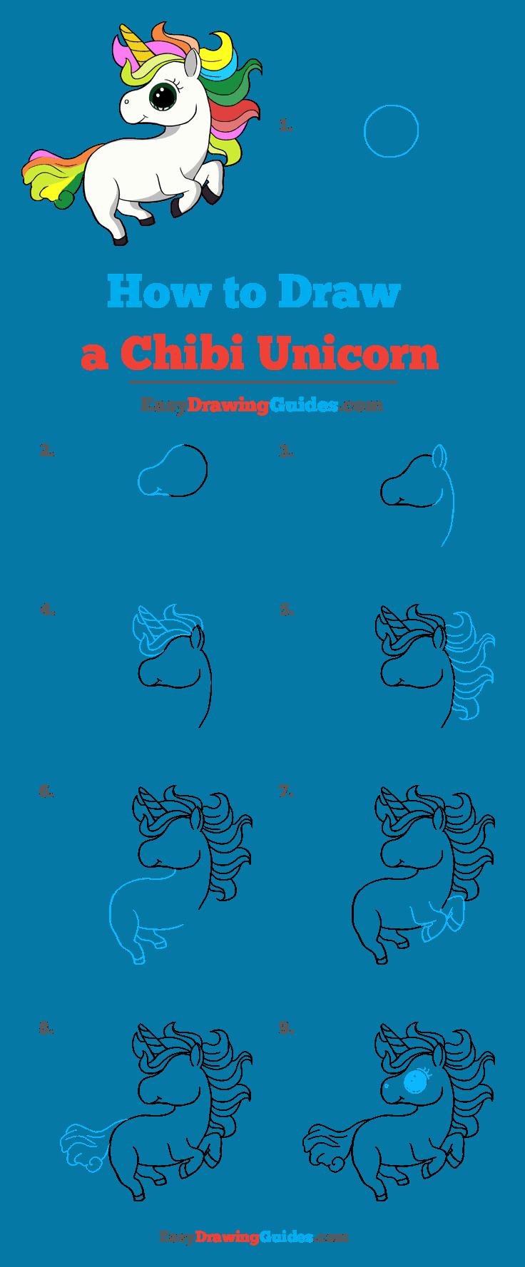 How to Draw Chibi Unicorn