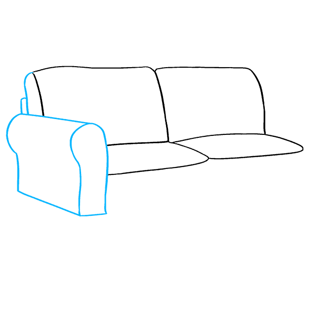 How to Draw Couch: Step 4