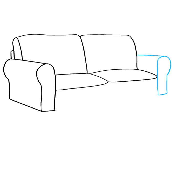 How to Draw Couch: Step 5