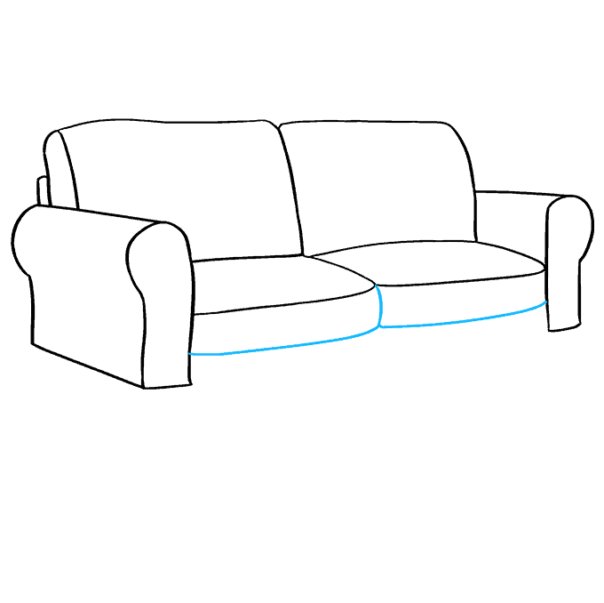 How to Draw Couch: Step 6
