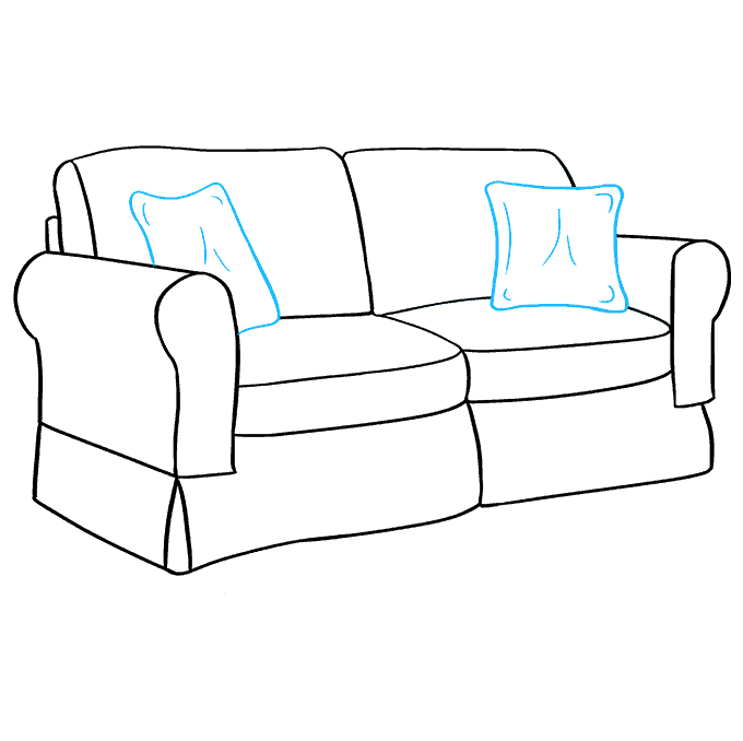 How to Draw Couch: Step 9