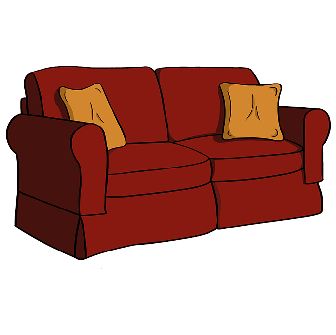 How to Draw Couch: Step 10