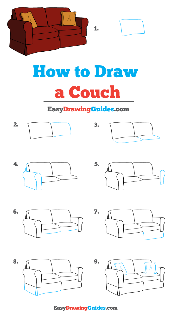 How to Draw Couch