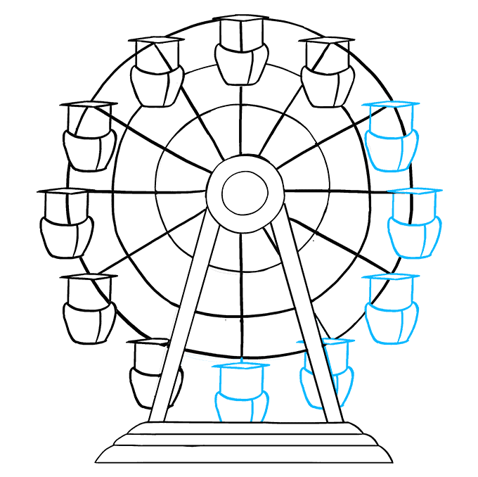 How to Draw Ferris Wheel: Step 8