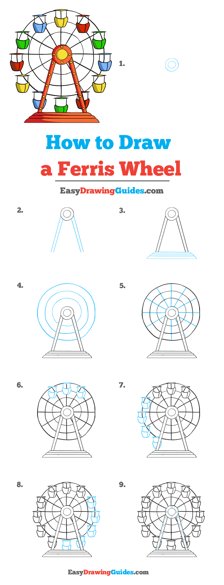 How to Draw Ferris Wheel
