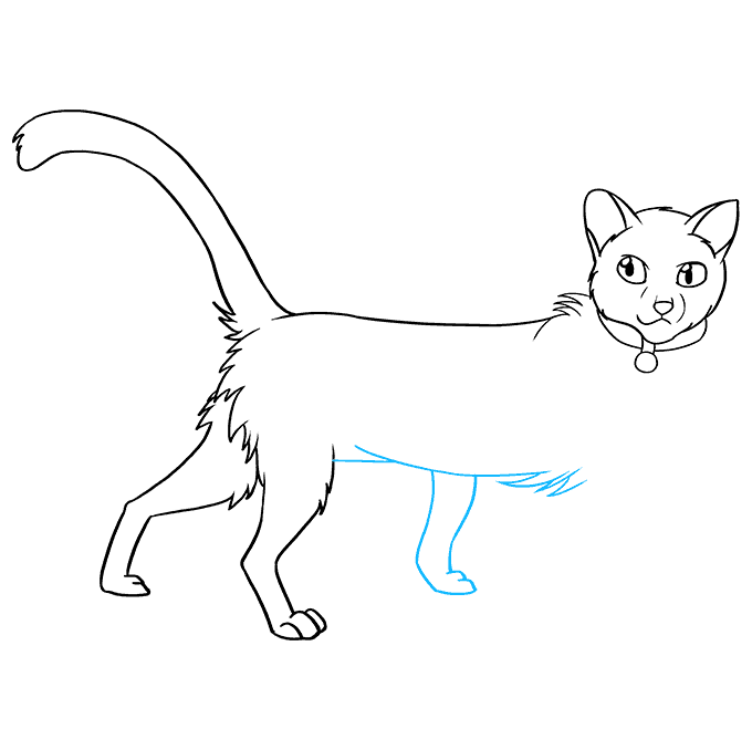 How to Draw Firestar from Warrior Cats: Step 8