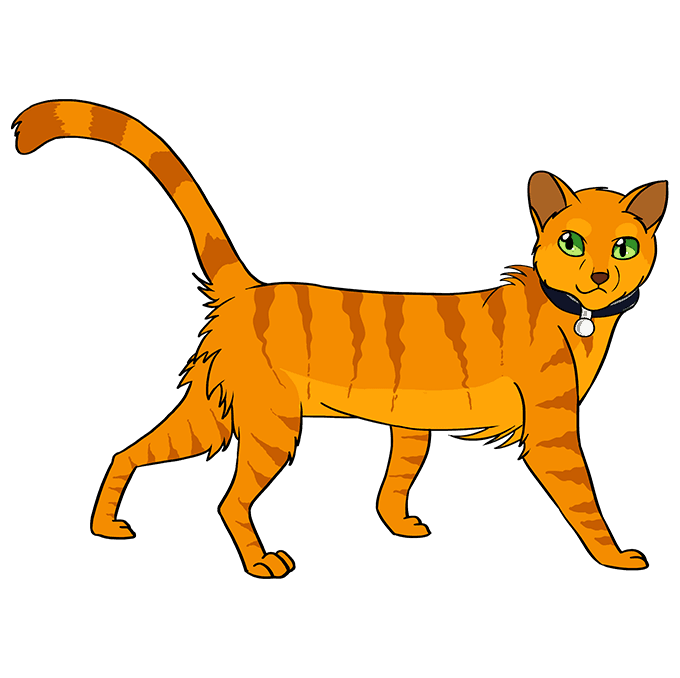 How to Draw Firestar from Warrior Cats: Step 10