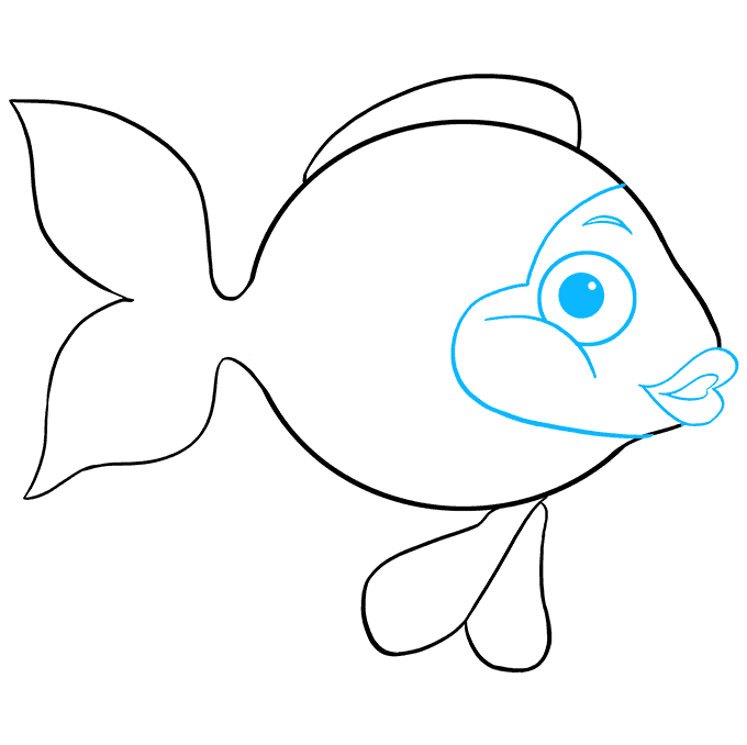 How to Draw Goldfish: Step 7