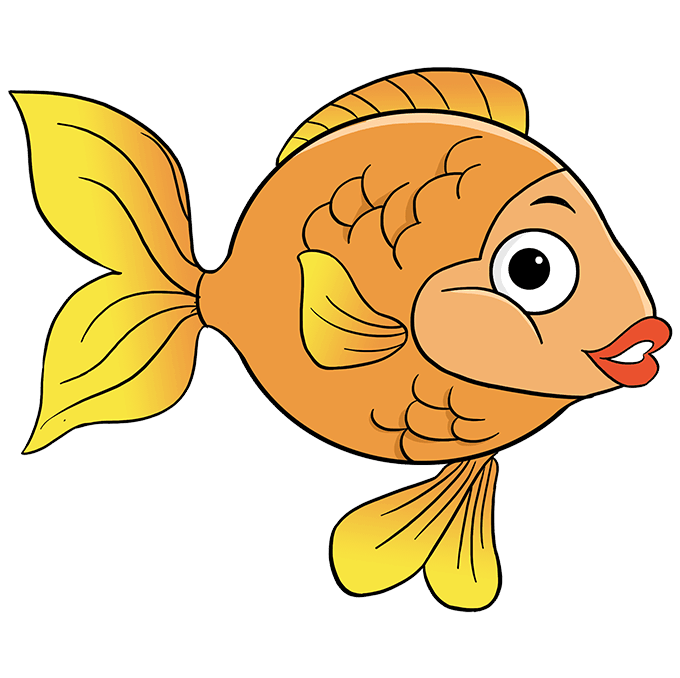 How to Draw Goldfish: Step 10