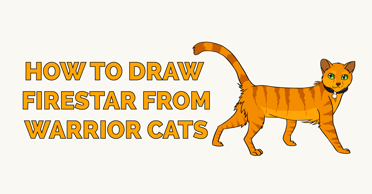 How To Draw Firestar From Warrior Cats Really Easy Drawing Tutorial
