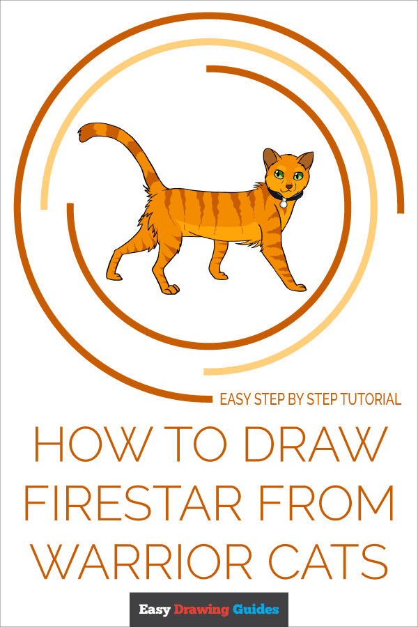 How to Draw Firestar from Warrior Cats | Share to Pinterest