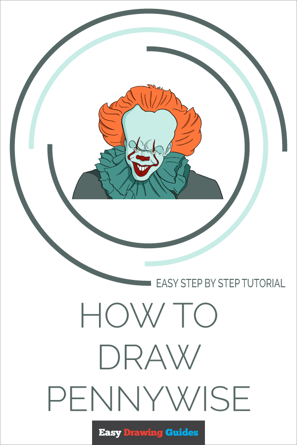 How to Draw Pennywise | Share to Pinterest