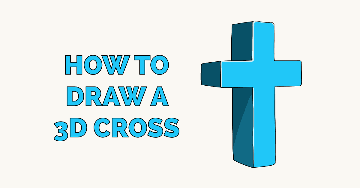 How to Draw a 3D Cross Featured Image