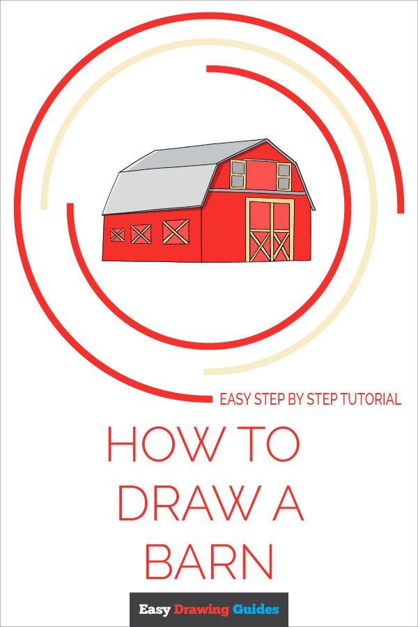 How to Draw Barn | Share to Pinterest