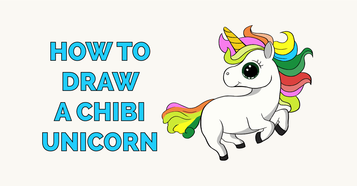 How To Draw A Chibi Unicorn Really Easy Drawing Tutorial