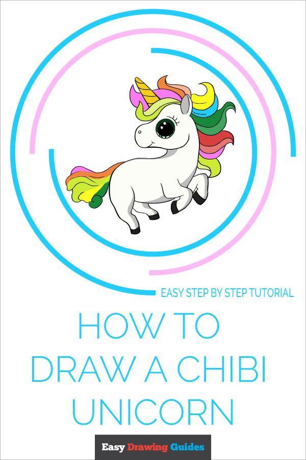 How to Draw Chibi Unicorn | Share to Pinterest