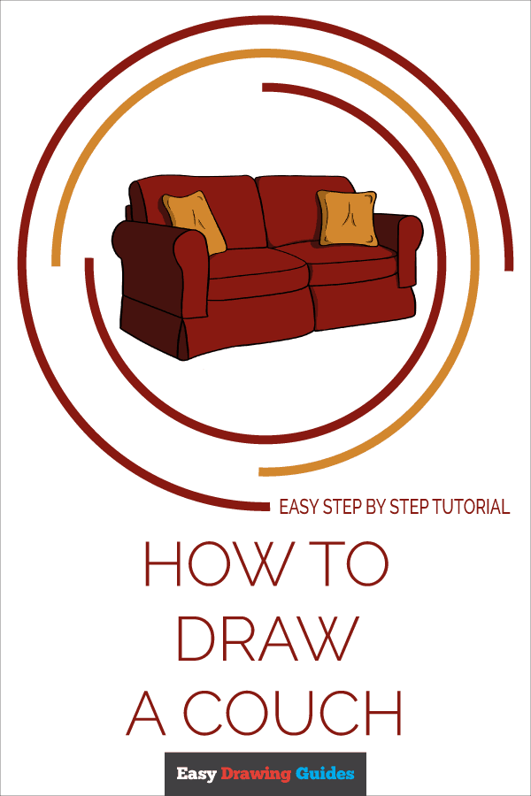 How to Draw Couch | Share to Pinterest