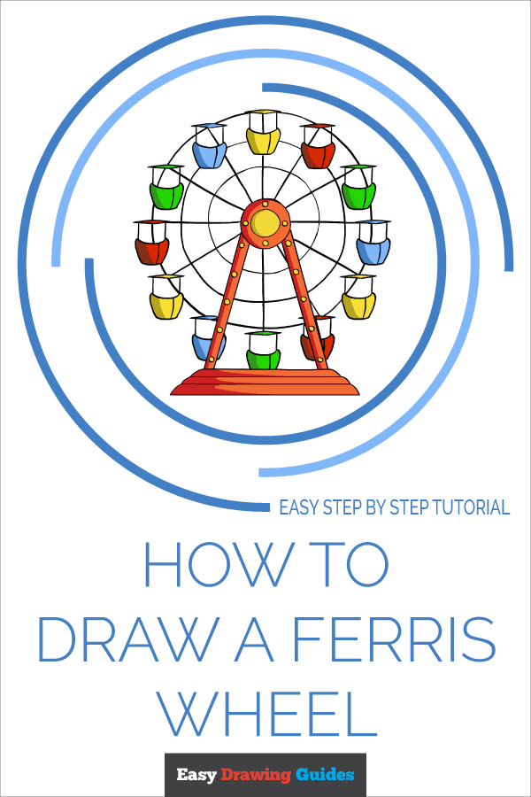 How to Draw Ferris Wheel | Share to Pinterest