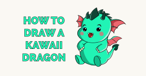 How to Draw a Kawaii Dragon Featured Image
