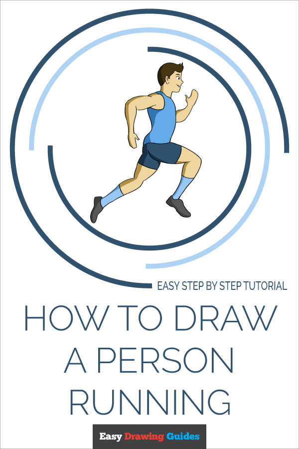 How to Draw a Person Running Pinterest Image