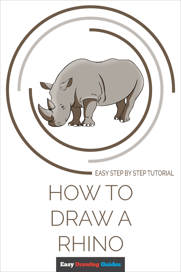 How to Draw Rhino | Share to Pinterest