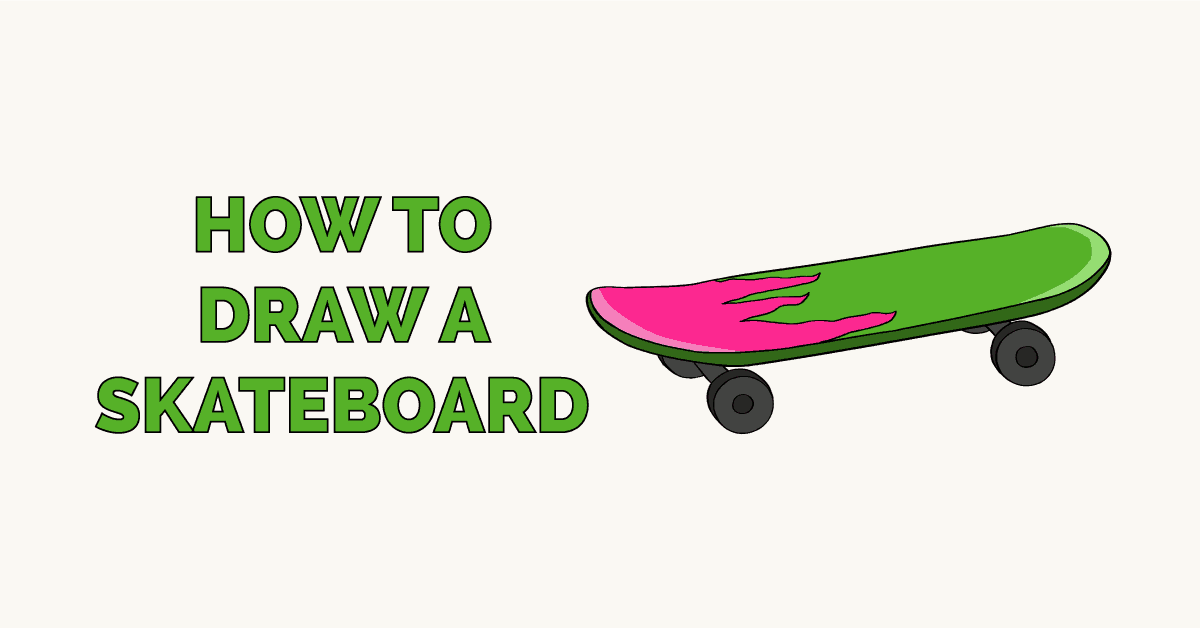 How to Draw a Skateboard Featured Image