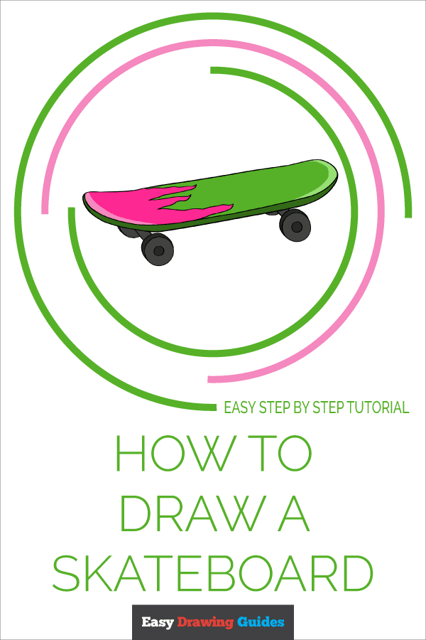 How to Draw Skateboard | Share to Pinterest