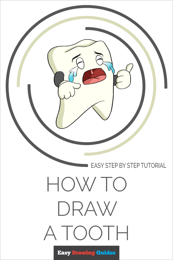How to Draw a Tooth Pinterest Image