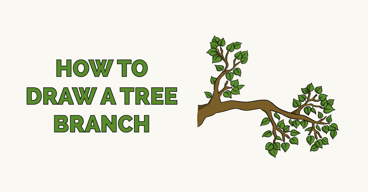 How To Draw A Tree Branch Really Easy Drawing Tutorial Draw another, bigger similar layer below this one, to continue and make the tree's middle. how to draw a tree branch really easy