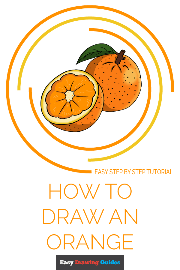 How to Draw Orange | Share to Pinterest