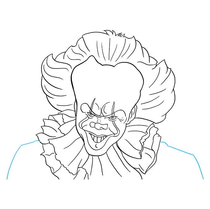 How to Draw Pennywise: Step 9