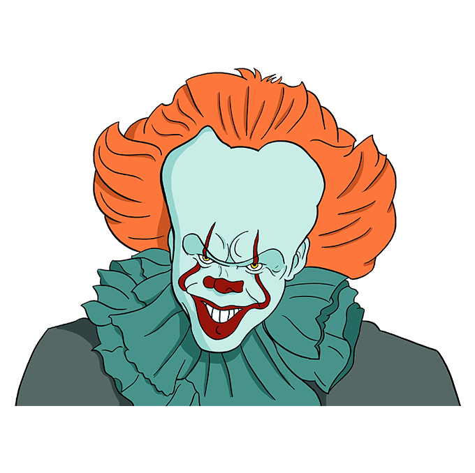 How to Draw Pennywise: Step 10