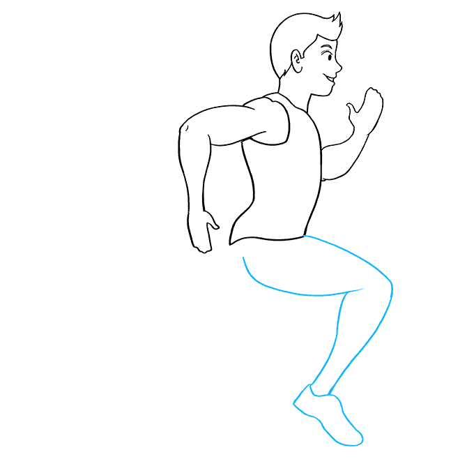 How to Draw Person Running: Step 7