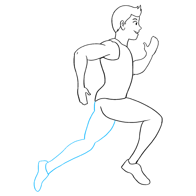 How to Draw Person Running: Step 8